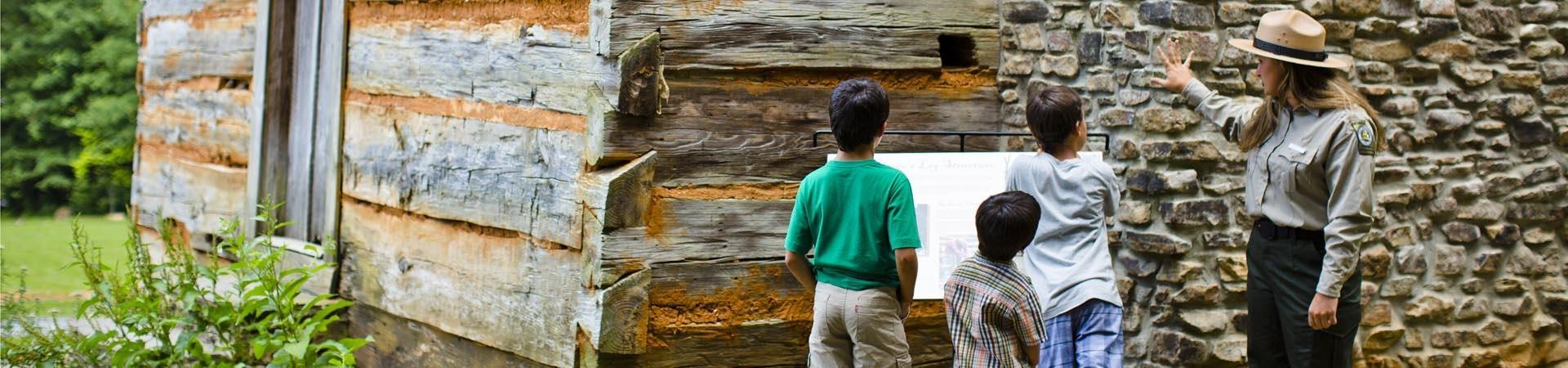 Fort Yargo Ranger gives kids a tour