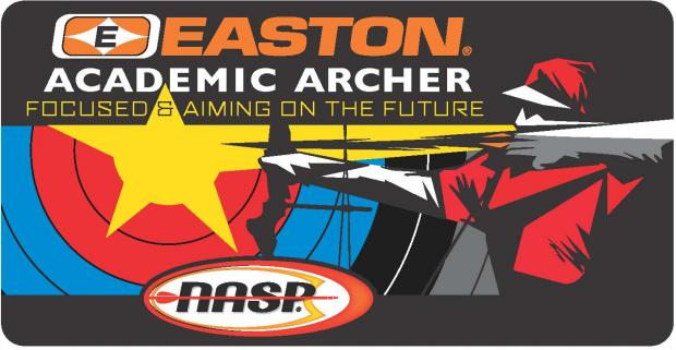 NASP Academic Archer Program Logo, bow pointing at target.